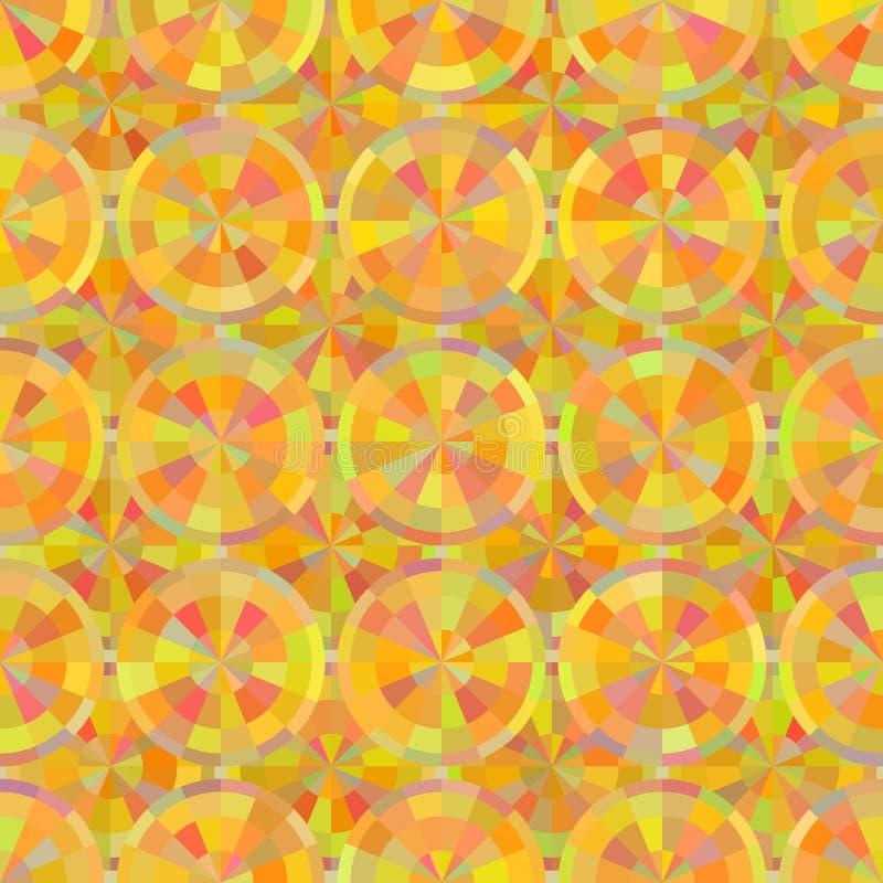 明亮的圆铺磁砖的传染媒介无缝的样式 图库摄影