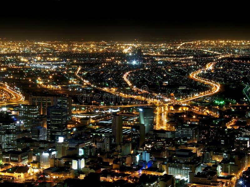 明亮的城市点燃母亲 免版税库存图片