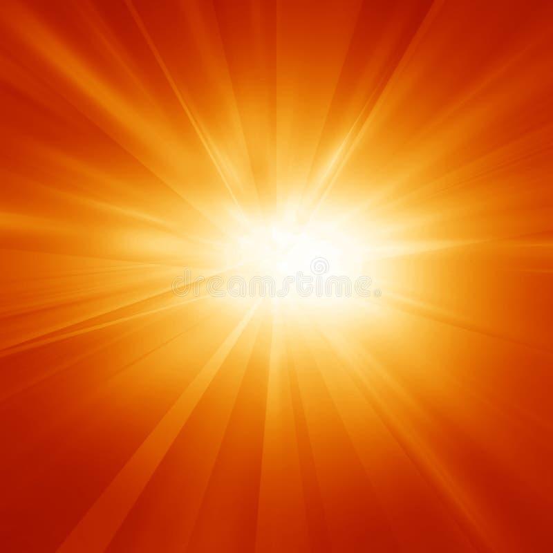 明亮的夏天太阳 向量例证