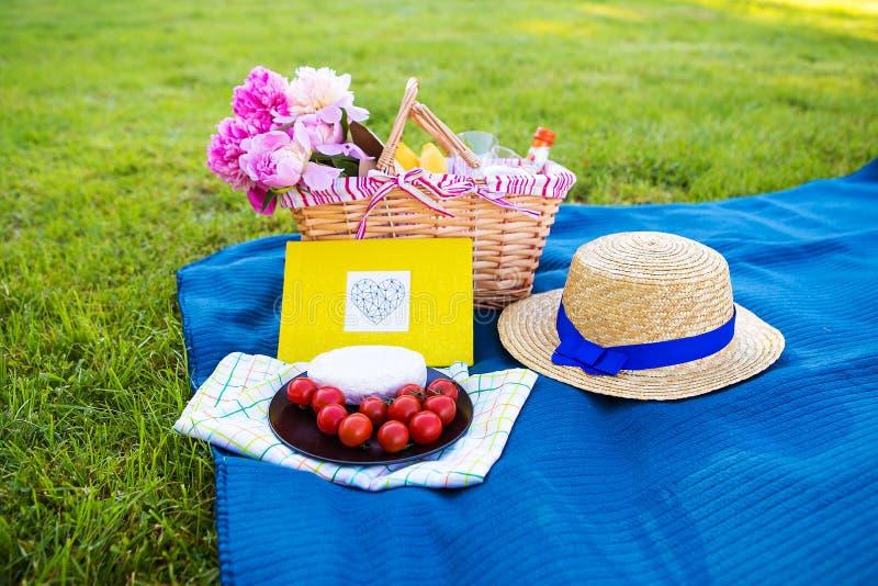 明亮的夏天野餐 免版税库存照片