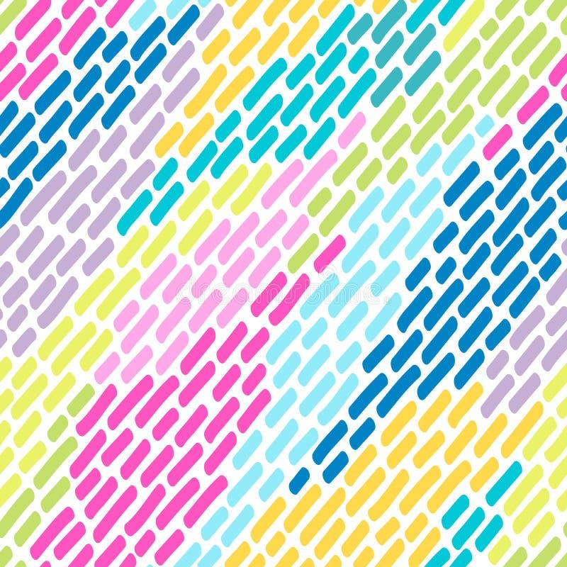 从明亮的多彩多姿的冲程的无缝的样式 库存例证