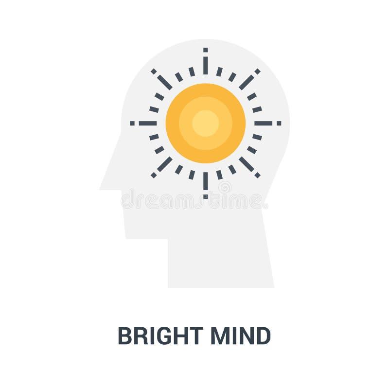 明亮的头脑象概念 向量例证