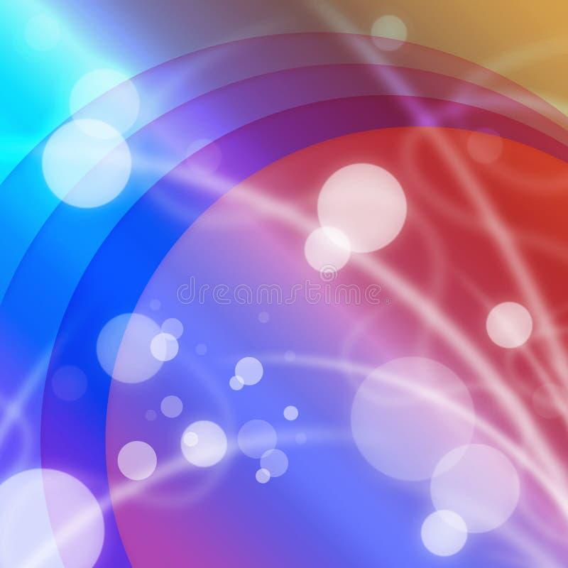 明亮的小点背景显示颜色和圆的斑点 库存例证