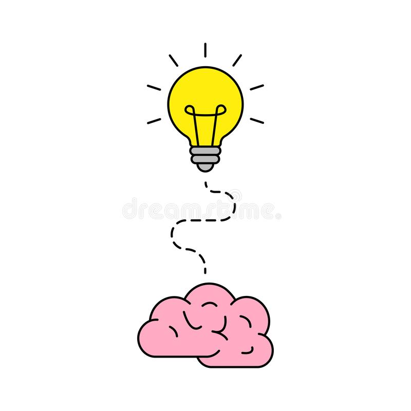 明亮的想法象 电灯泡象 ?? 创造性 ?? r 向量例证
