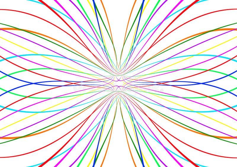 明亮的抽象五颜六色的线样式 向量例证