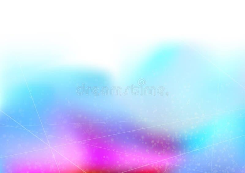 明亮的抽象线和小点半音梯度背景 皇族释放例证
