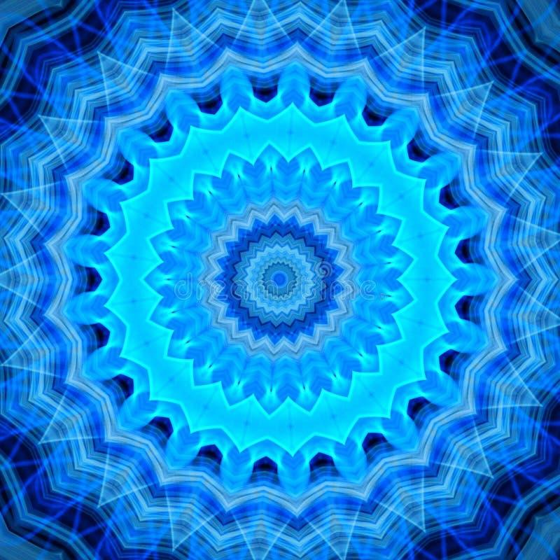明亮的抽象蓝焰坛场backgound 向量例证