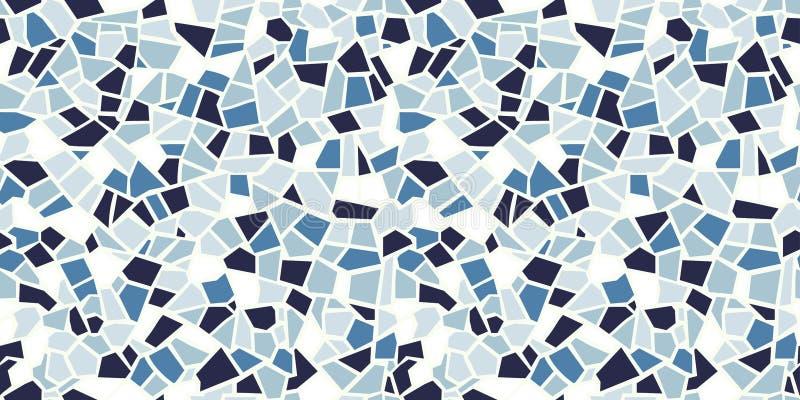 明亮的抽象马赛克无缝的样式 向量背景 不尽的纹理 陶瓷砖片段 向量例证