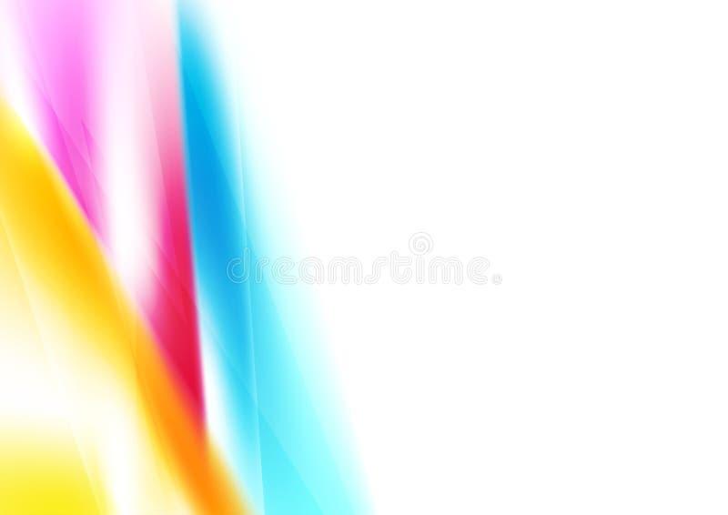 明亮的摘要五颜六色的光滑的梯度背景 向量例证