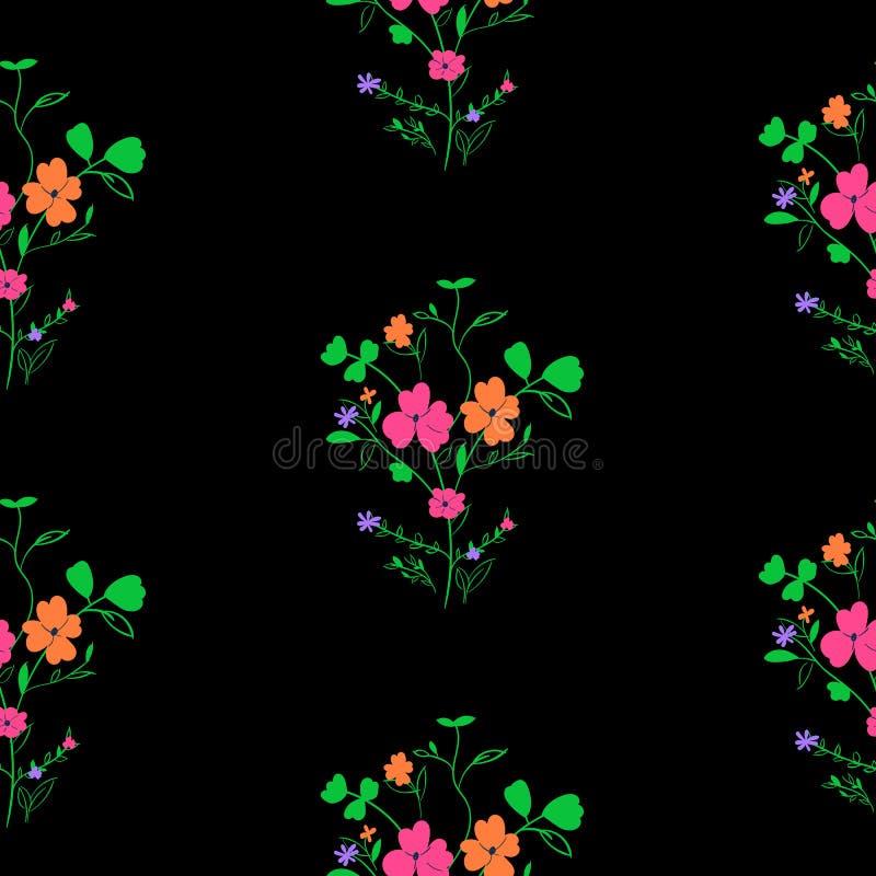 明亮的无缝的春天花卉样式 向量例证