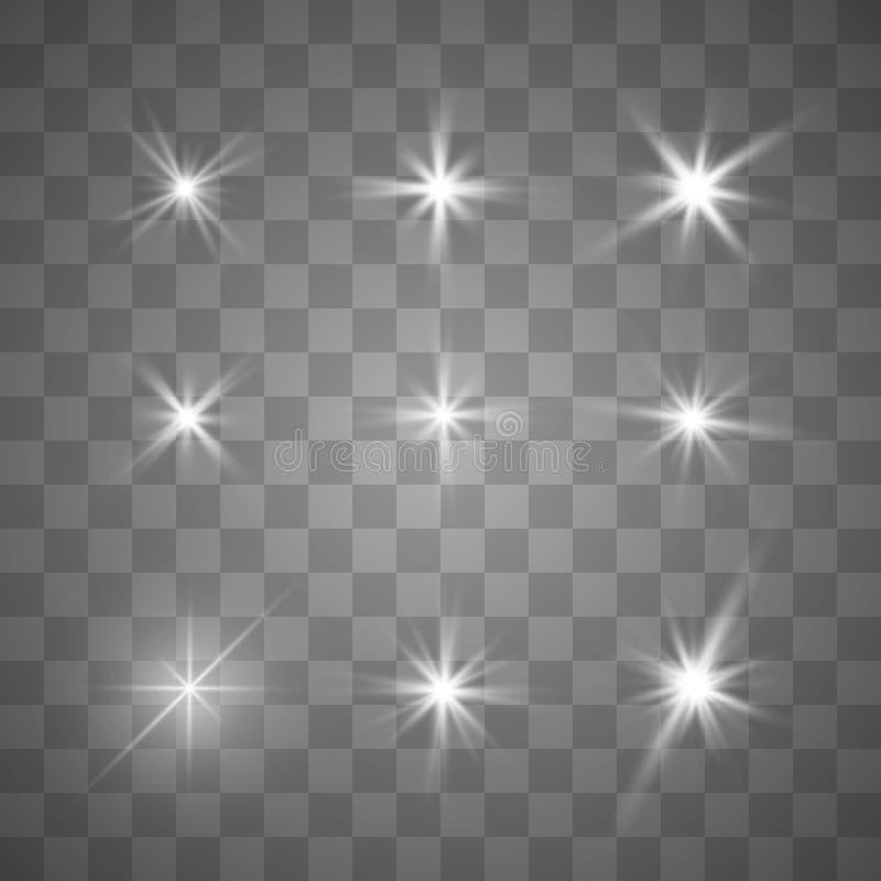 明亮的星形 库存例证