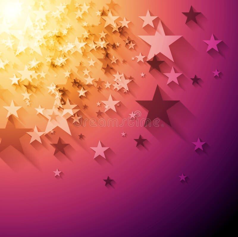 明亮的星抽象传染媒介背景 库存例证