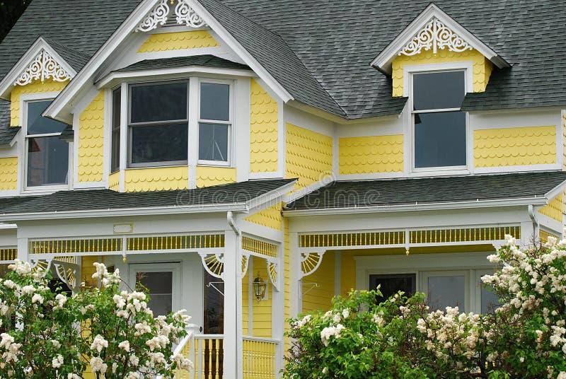 明亮的有历史的家庭黄色 库存图片