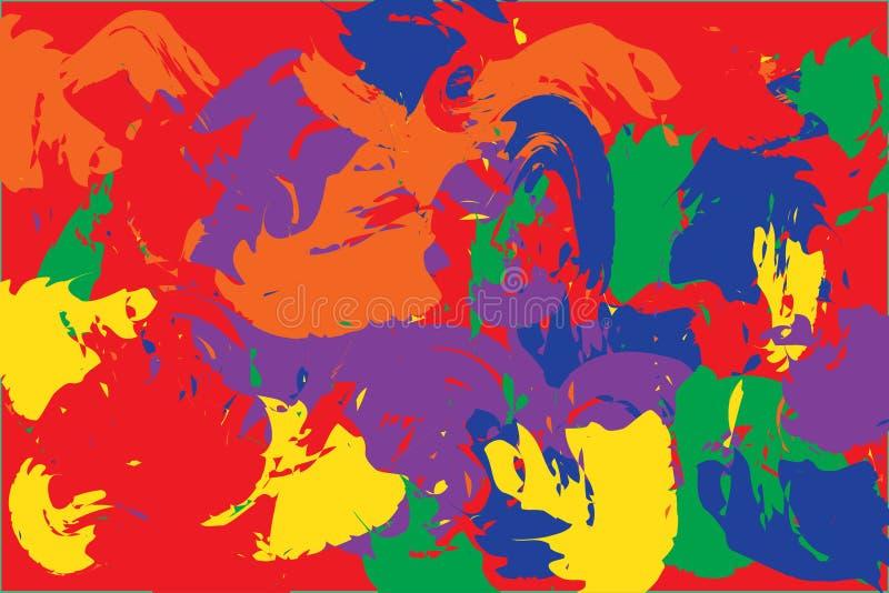 明亮的树胶水彩画颜料被绘的纹理 库存例证