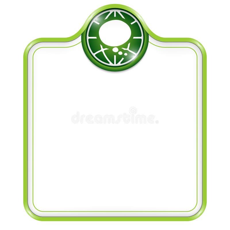 明亮的框架绿色例证向量 皇族释放例证
