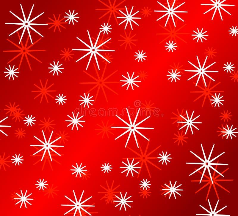 明亮的模式红色雪花 皇族释放例证