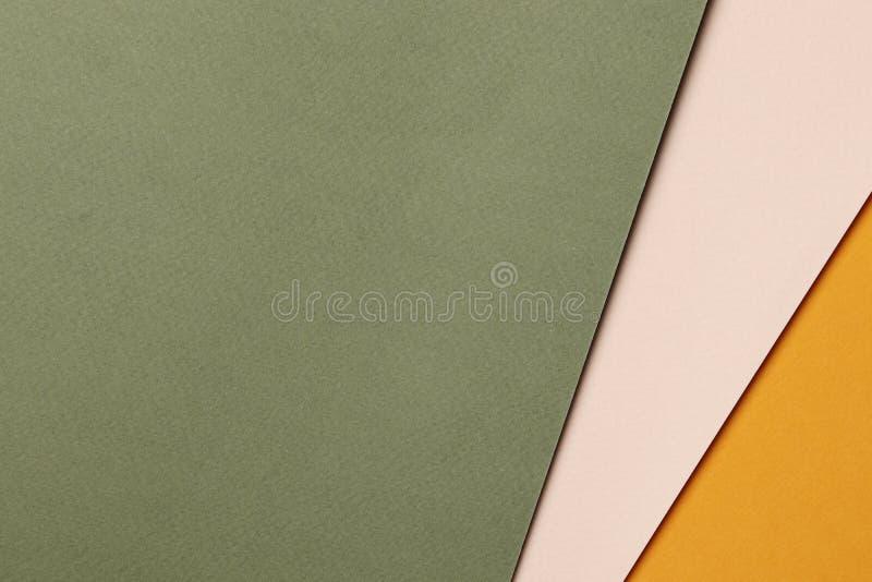 明亮的橙色和绿色摘要白纸背景 免版税库存照片
