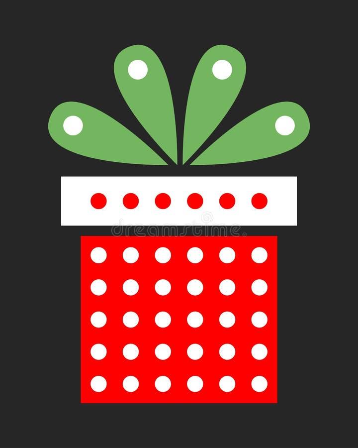 明亮的欢乐礼物 圣诞节包装 意外对于党 向量 库存例证