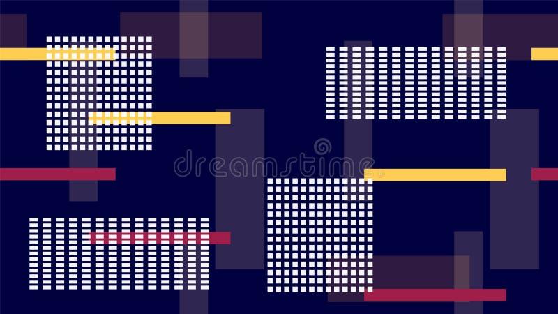 明亮的汽车光夜生活,赛跑线,霓虹IT,高科技传染媒介纹理 互联网技术连接现代横幅纹理 向量例证