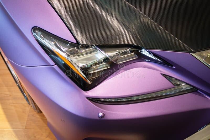 明亮的汽车着色 图库摄影