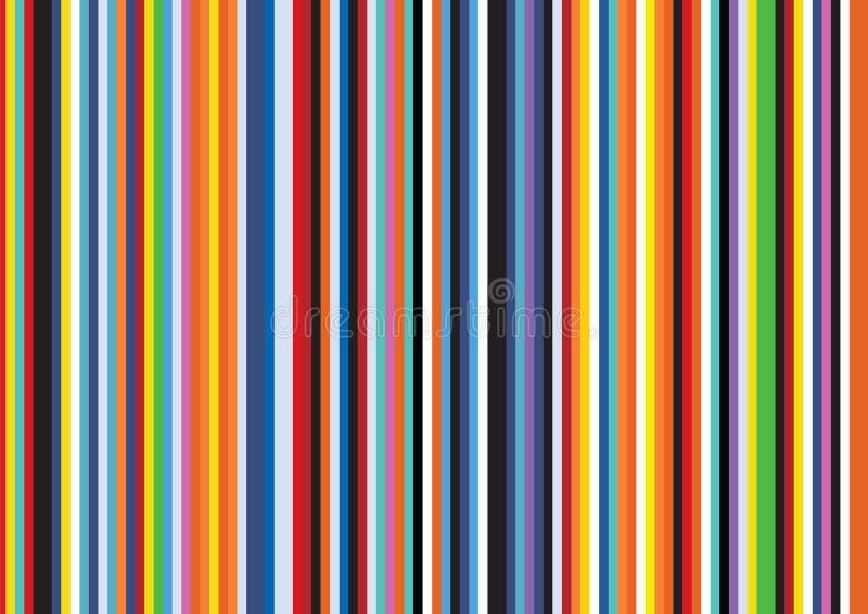 明亮的流行艺术减速火箭的条纹垂直的平的线样式背景 皇族释放例证