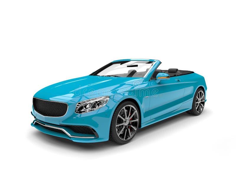 明亮的深蓝现代敞篷车豪华汽车 向量例证