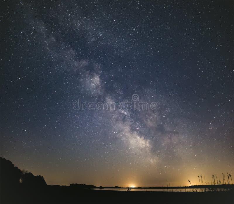 明亮的清楚的夜空 免版税库存照片