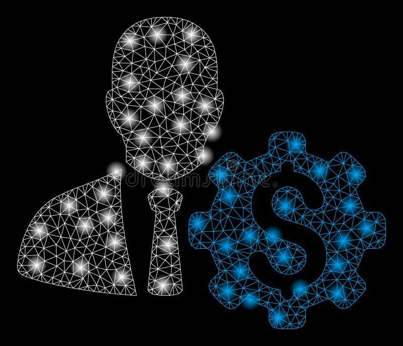 明亮的滤网第2个银行家选择适应与一刹那斑点 向量例证