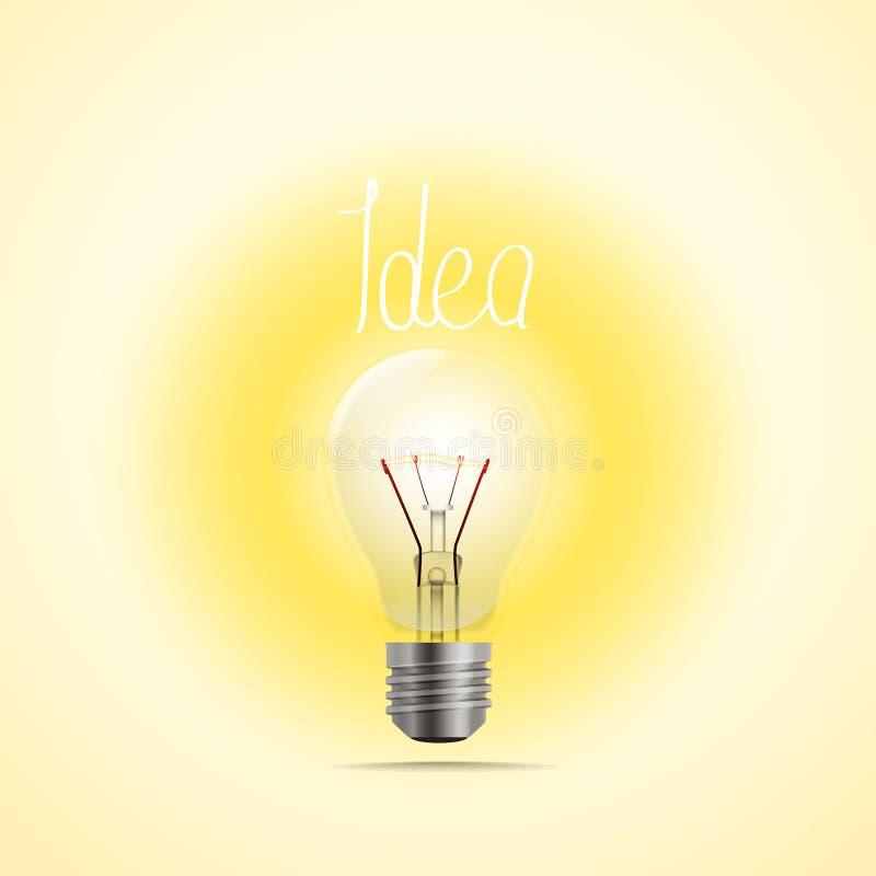 明亮的灯传染媒介例证 想法 向量例证