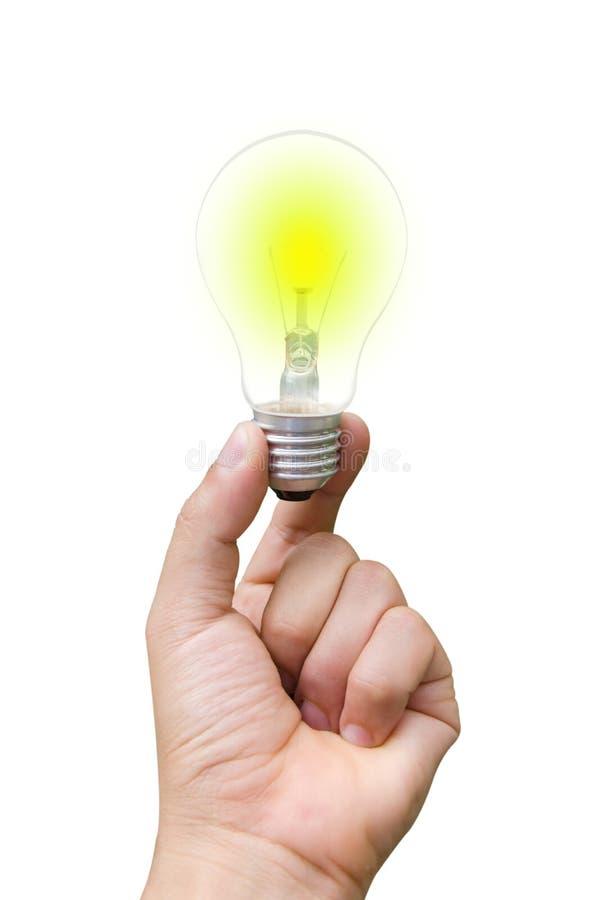 明亮的灯在手边 免版税图库摄影
