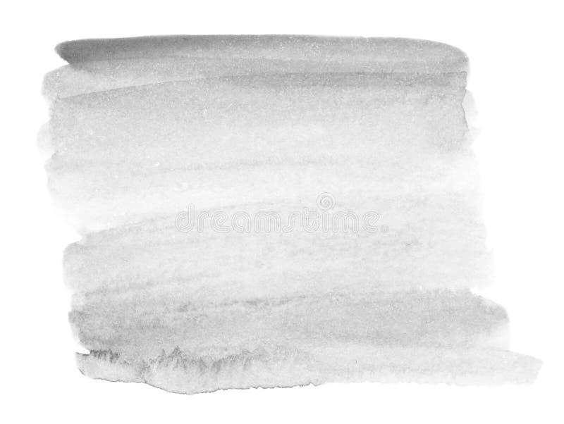 明亮的灰色水彩污点 抽象手拉的灰色watercolo 皇族释放例证