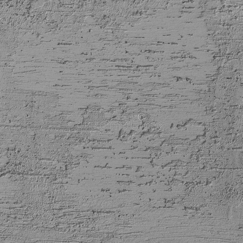 明亮的灰色难看的东西涂灰泥的墙壁灰泥纹理,水平的详细的自然被构造的抓痕脏的灰色粗糙土气 免版税图库摄影