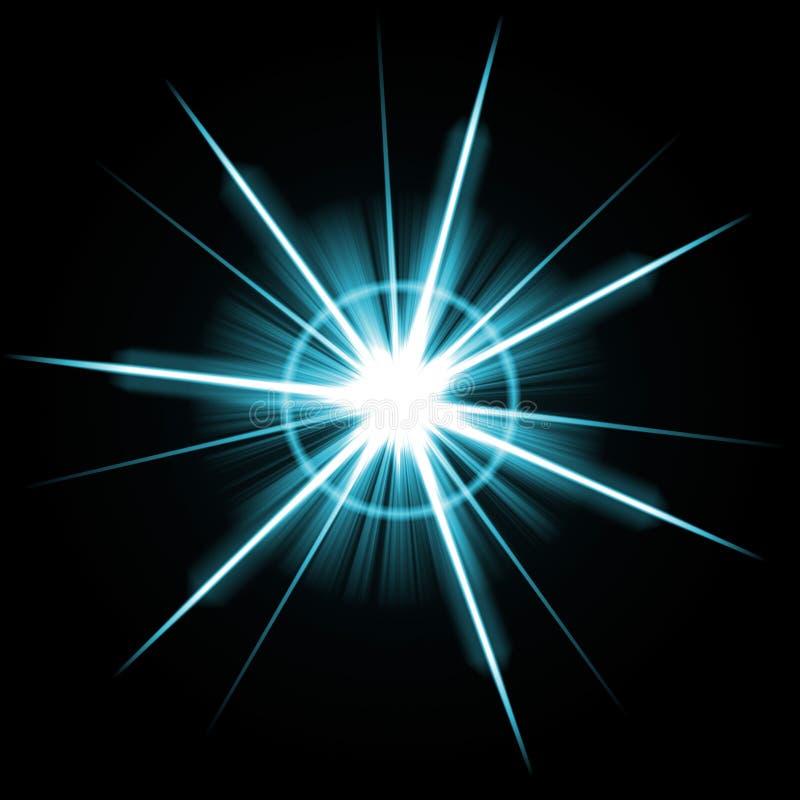 明亮的爆炸火光透镜 库存例证
