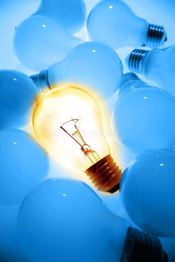 明亮的电灯泡 免版税库存照片