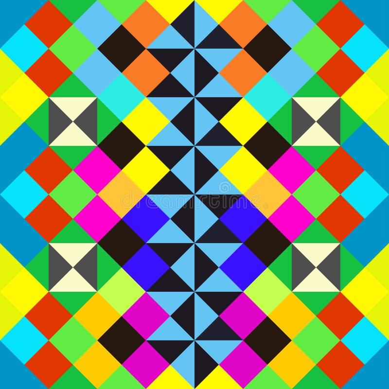 明亮的美好的多角形提取几何无缝的样式 库存例证