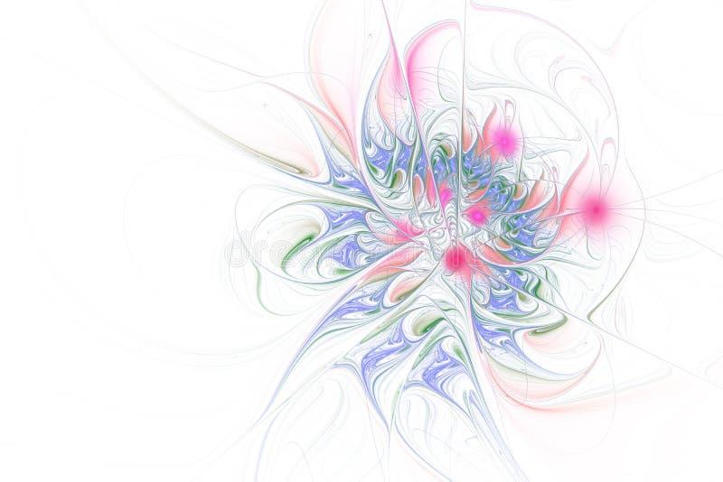 明亮的背景的分数维例证与花饰的 向量例证