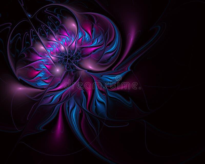 明亮的背景的分数维例证与花饰的 库存例证