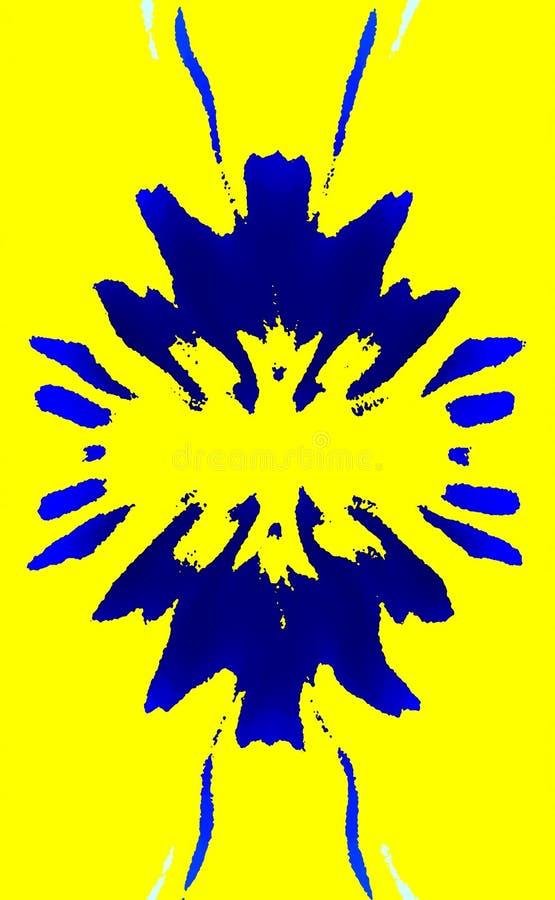 明亮的色的背景 斑点抽象花  美好的设计 向量例证