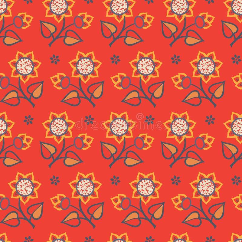 明亮的花卉无缝的样式 皇族释放例证