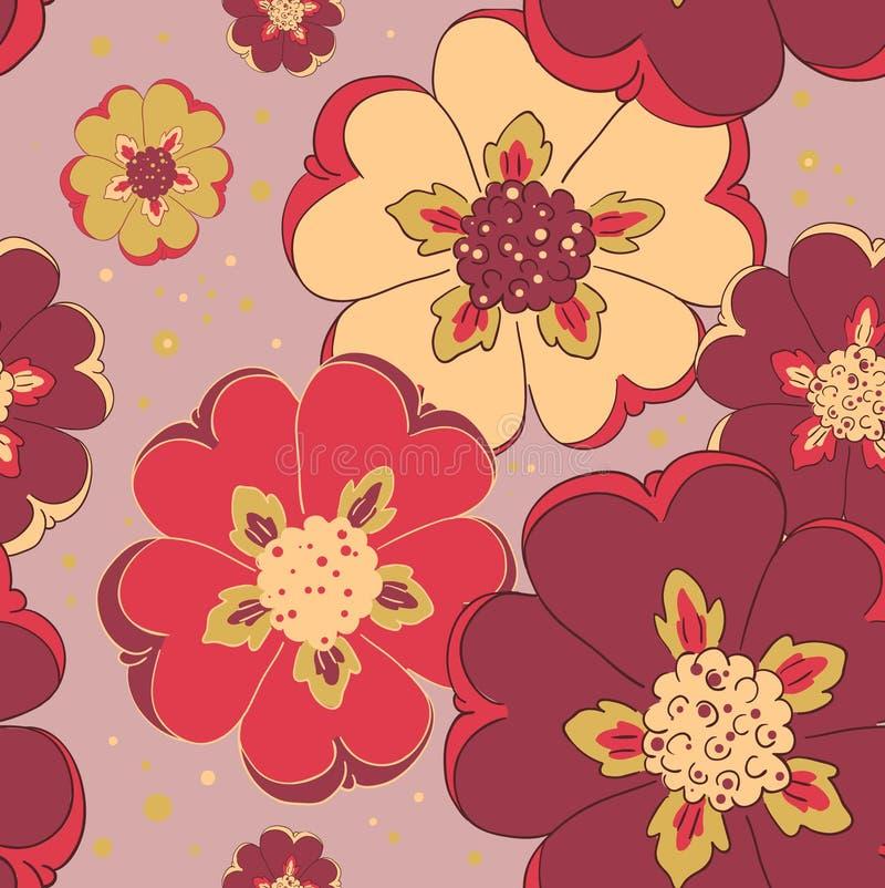 Download 明亮的花无缝的样式 向量例证. 插画 包括有 艺术, 无缝, 花卉, 织品, 橙色, 模式, 墙纸, 春天 - 30326024