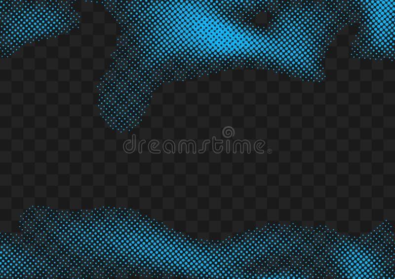 明亮的蓝色半音小点隔绝了流行艺术页面设计 容易 皇族释放例证