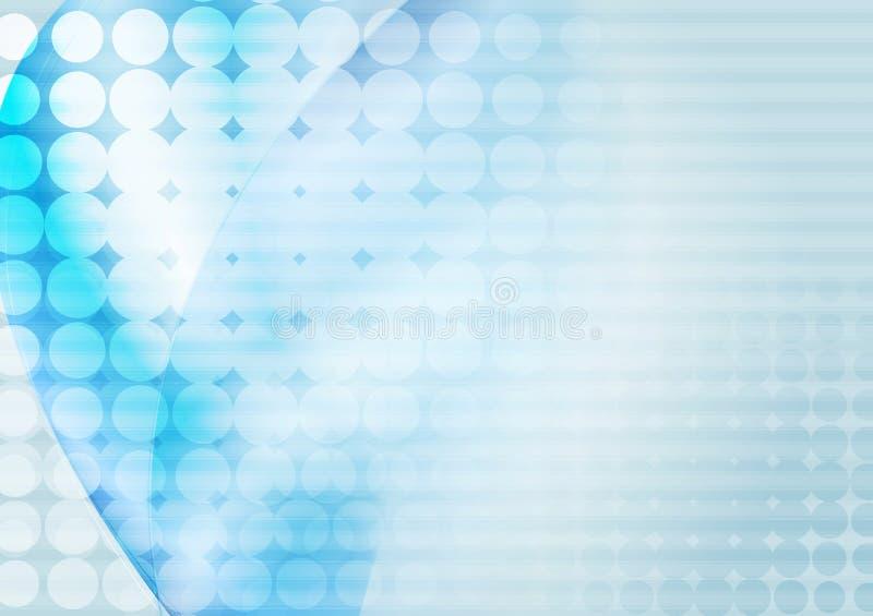 明亮的蓝色抽象传染媒介例证 向量例证