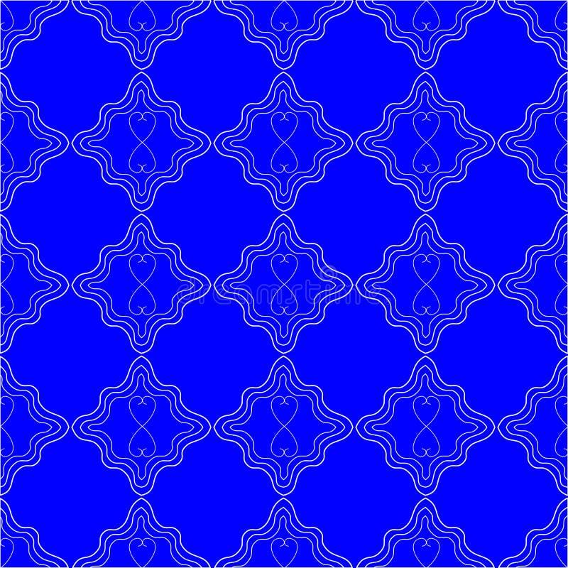 明亮的蓝色样式背景 向量例证