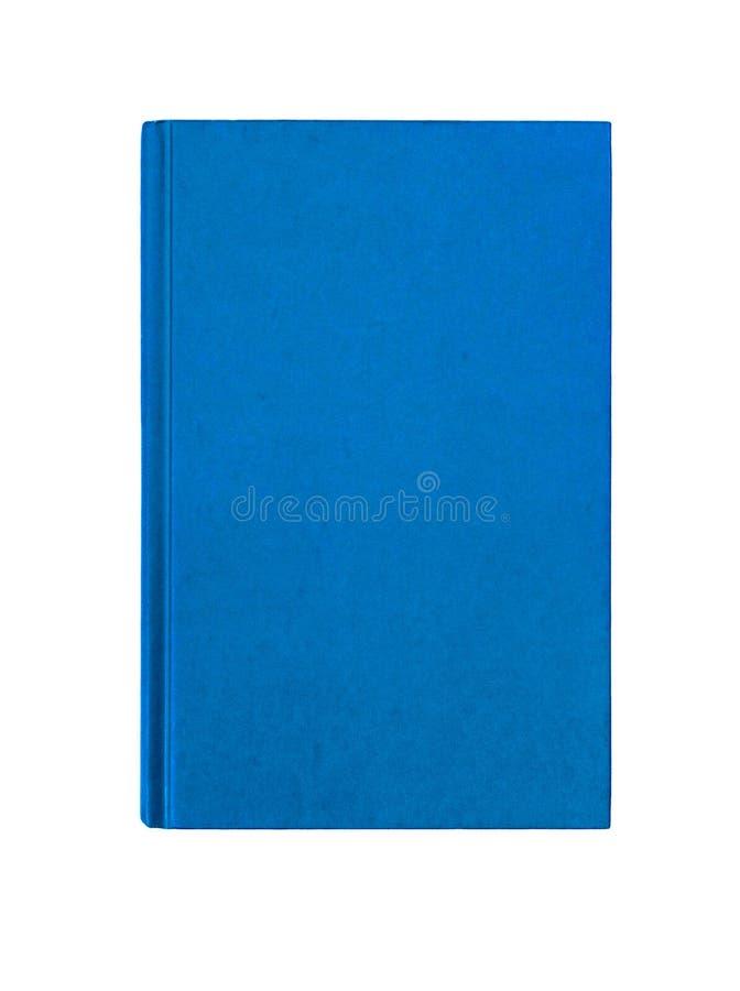 明亮的蓝色简单的挺直精装书封面垂直 免版税图库摄影
