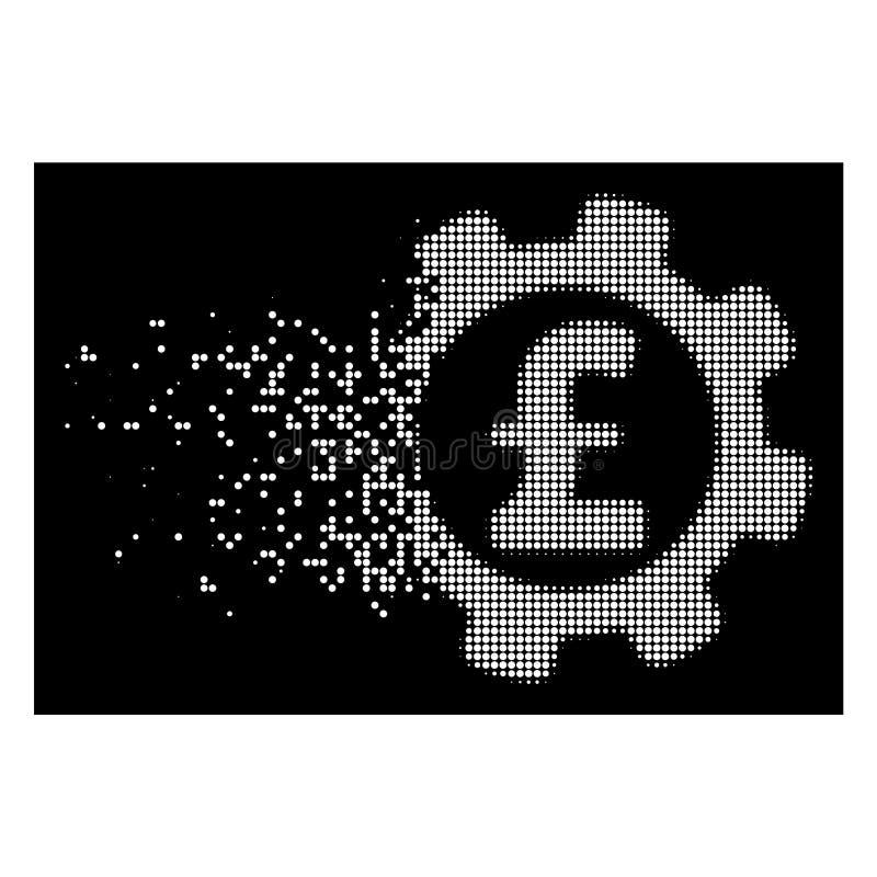 明亮的被分散的Pixelated半音发展磅价格象 皇族释放例证