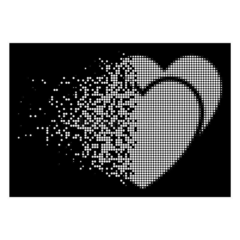 明亮的被溶化的被加点的半音爱心脏象 向量例证