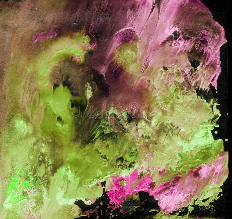 明亮的被绘的水彩纹理 库存照片