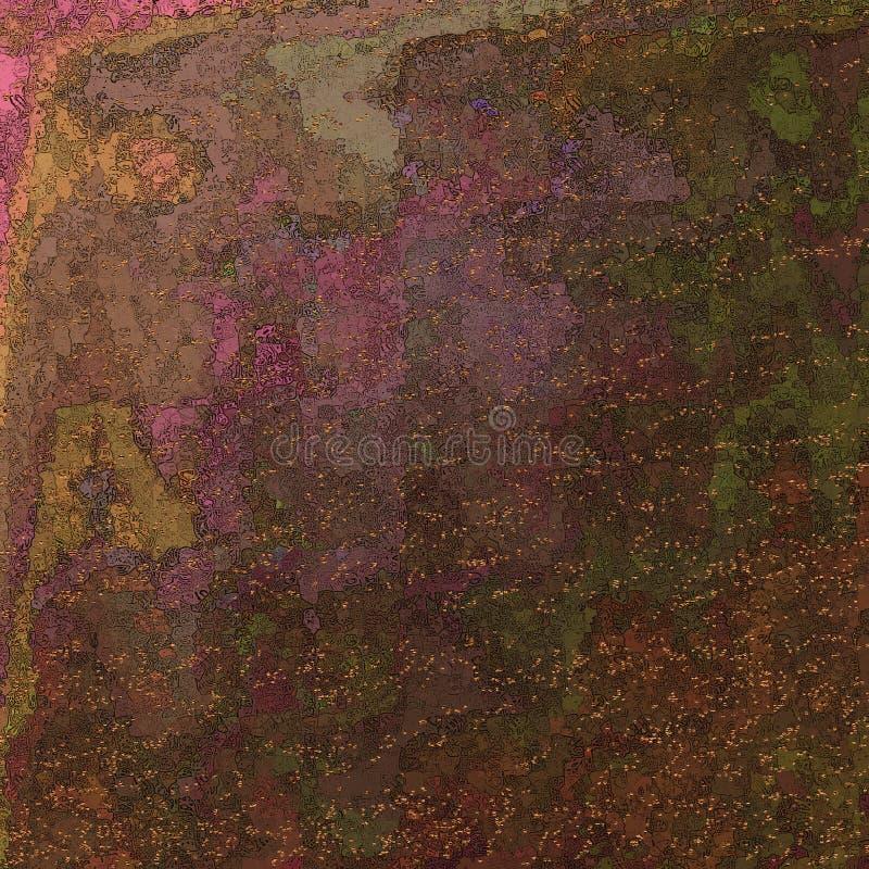 明亮的被设色的艺术 Highlighted构造了纸 墨迹冲程 背景脏织地不很细 纸土气 厚实的油漆飞溅艺术 皇族释放例证