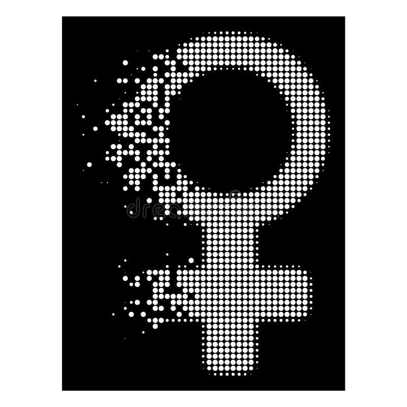明亮的被驱散的Pixelated半音金星标志象 向量例证