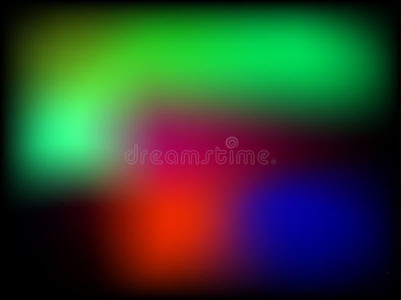 明亮的调色板 水多的颜色背景 饱和RGB树荫 库存例证